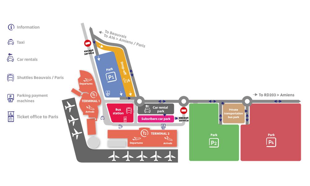 Parigi Cartina Aeroporti.Fermate Bus Beauvais Paris Information